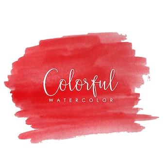 Красочные красные акварельные мазки