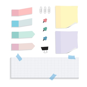 Colorful reminder paper notes set