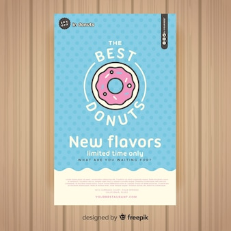 Colorful restaurant flyer template