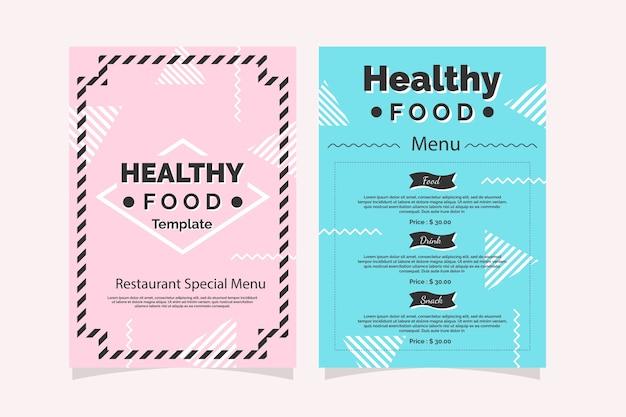 Colorful restaurant menu template design