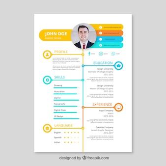 カラフルな履歴書テンプレート