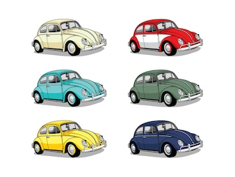 Colorful retro car