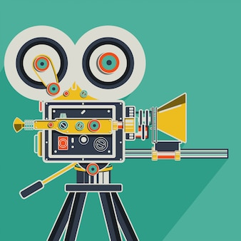 Colorful retro cinema