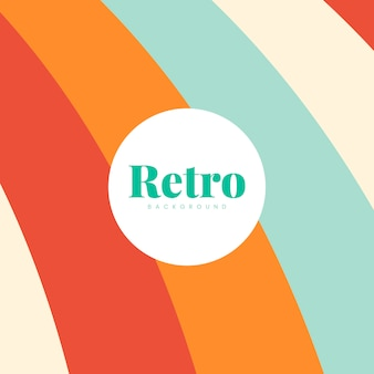 Colorful retro print background design