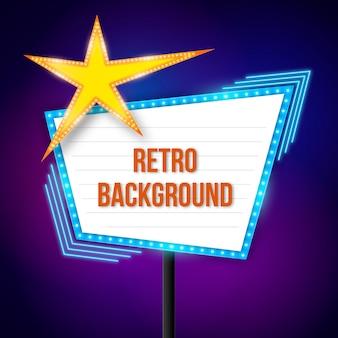 Colorful retro sign
