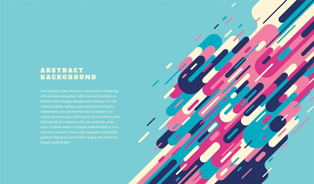 Colorful retro style template with abstract elements.