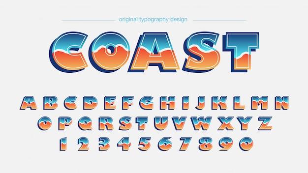 Colorful retro style typography design