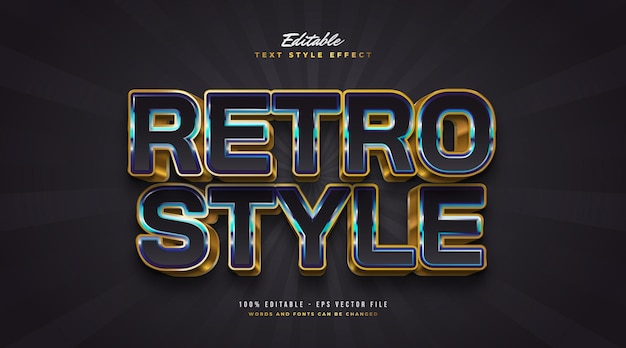 Colorful retro text style with 3d embossed effect. editable text style effect