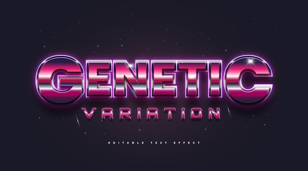 Colorful retro text style with 3d and glossy effect. editable text style effect