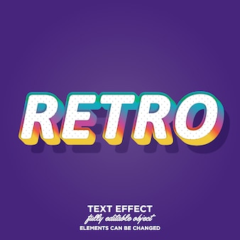 Colorful retro text style