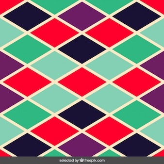 Colorful rhombs pattern