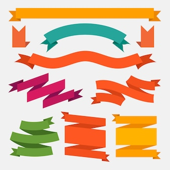 Colorful ribbon set