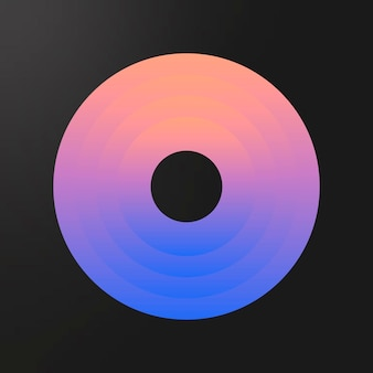 Colorful ring gradient element