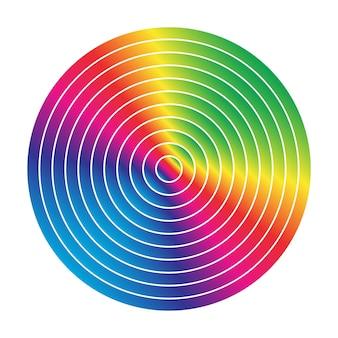 다채로운 반지 예술 배경 무지개 색 원