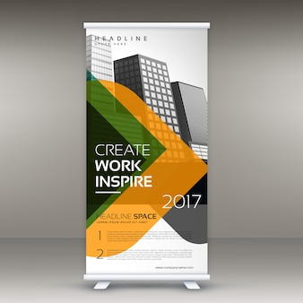 Colorful roll up banner template