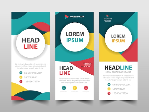 Colorful roll up  template set