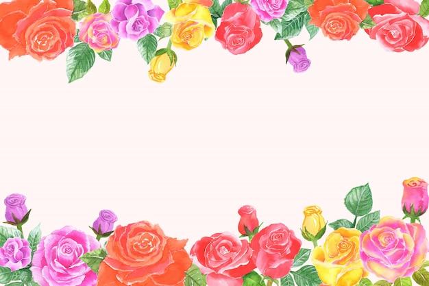 Красочная роза границы фона