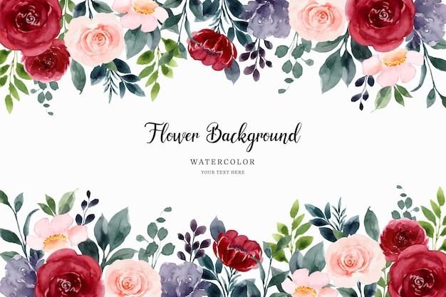 Красочная роза цветочный фон с акварелью