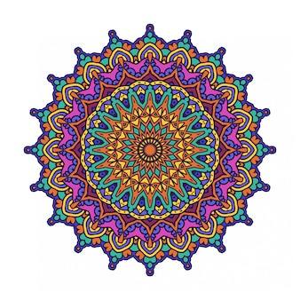 Colorful round abstract circle with mandala style