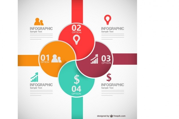 Colorful round business infographic