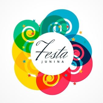 Colorful round festa junina design