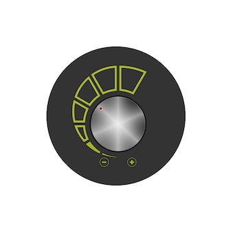 Colorful round icon volume control, power control icon, vector illustration