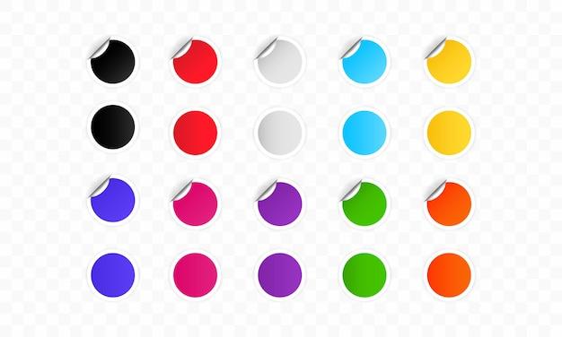 다채로운 원형 라벨 또는 원형 스티커
