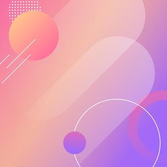 Красочный круглый современный фон