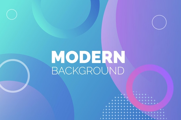 Colorful round modern background