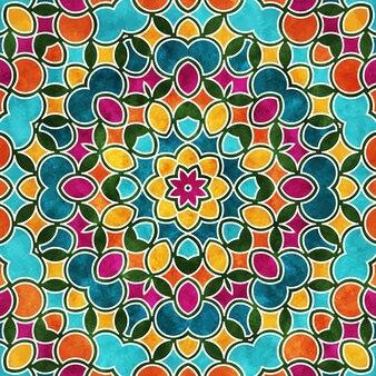 Красочный круглый узор