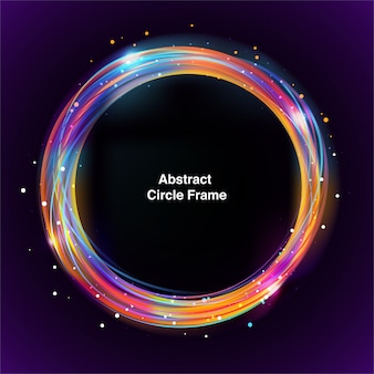 Colorful rounded abstract frame