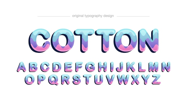 Colorful rounded cartoon typography