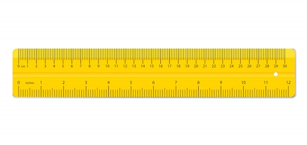 Colorful rulers. measuring tool supplies.