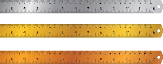 Colorful rulers, millimeters