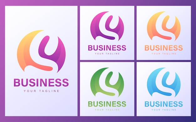 Colorful s letter logo with a modern concept