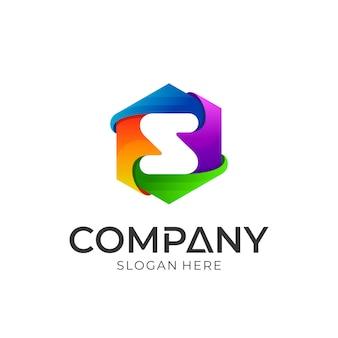 Красочный дизайн логотипа s