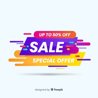 Colorful sale background flat style