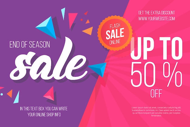 Colorful sale background