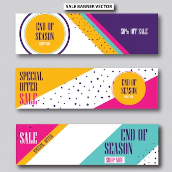 Colorful sale banner template