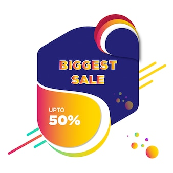 Colorful sale banner vector template