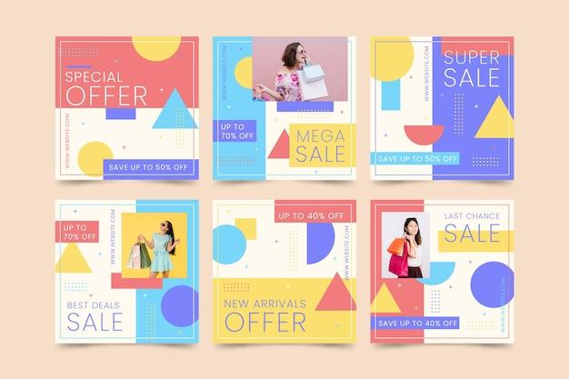 화려한 판매 인스 타 그램 포스트 컬렉션