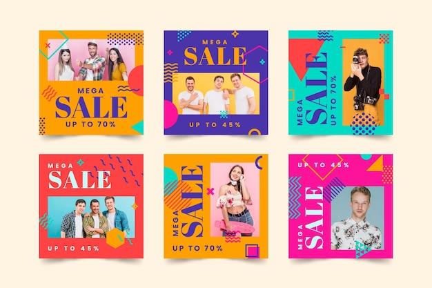 Colorful sale instagram posts