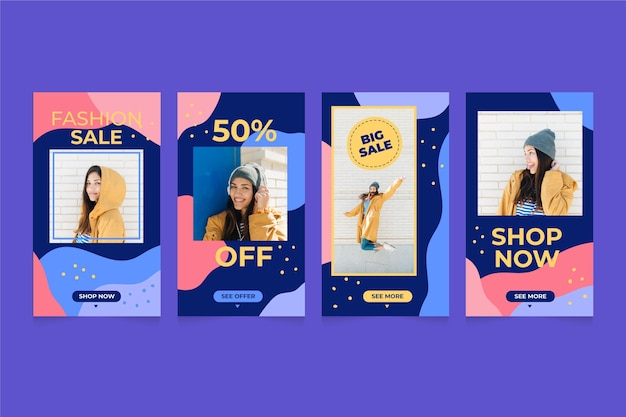 Colorful sale instagram stories collection