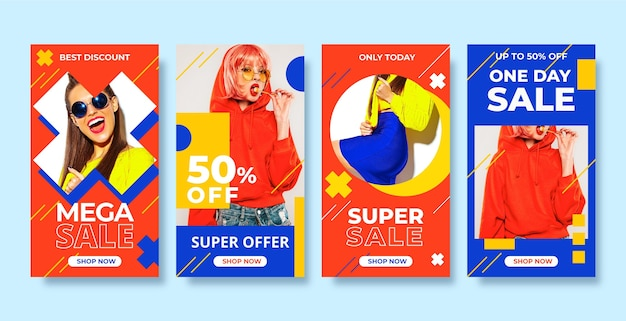 Colorful sale instagram stories