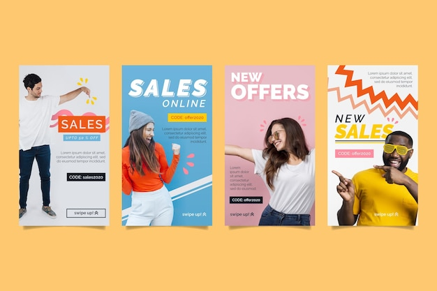 다채로운 판매 인스 타 그램 이야기
