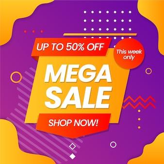Colorful sales background design