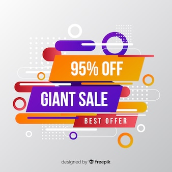 Colorful sales background geometric  style