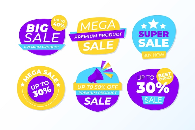 Colorful sales banner collection