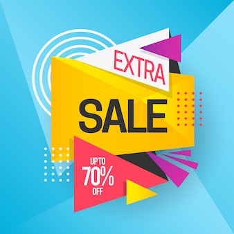 Colorful sales banner with extra sale