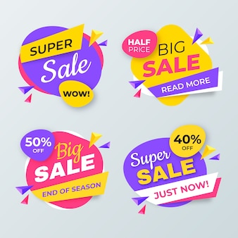 Colorful sales banners collection